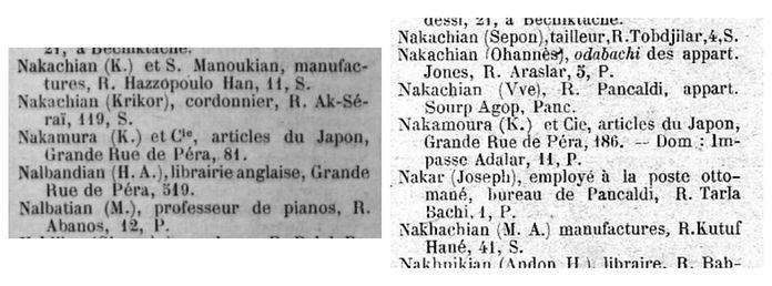 1896 ve 1909 yıllıklarında Nakamura Shoten