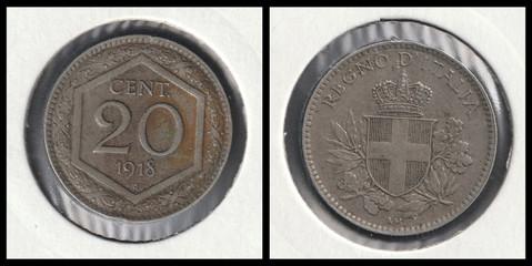20 Centesimi - 1918