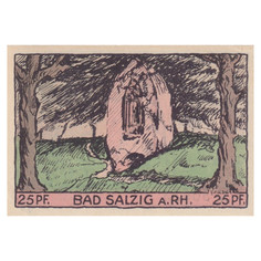 Bad Salzig, 25 Pfennig, 1921_Back