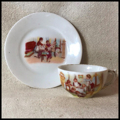1930s Porcelain Turkish Coffee Cup
