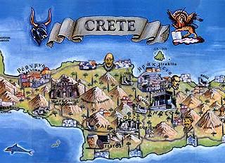 Crete Touristic Map