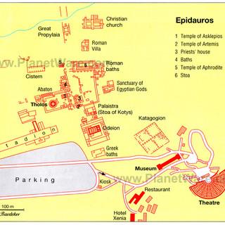 Epidauros City Plan/Map