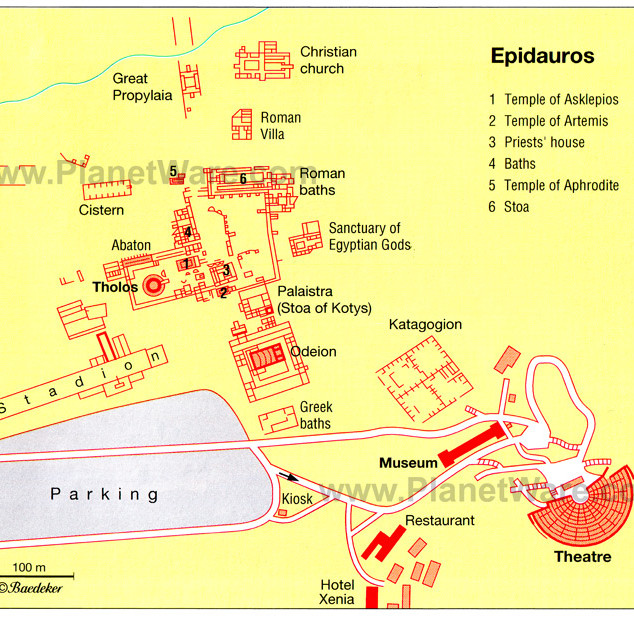 Epidauros City Plan/Map