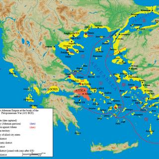 B.C. 431 Athens Before Peloponnesian Wars