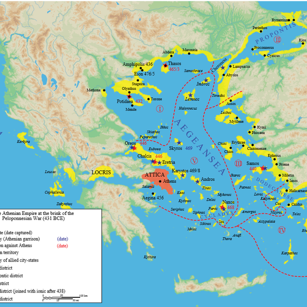 B.C. 431 Athens Before Peloponnesian Wars
