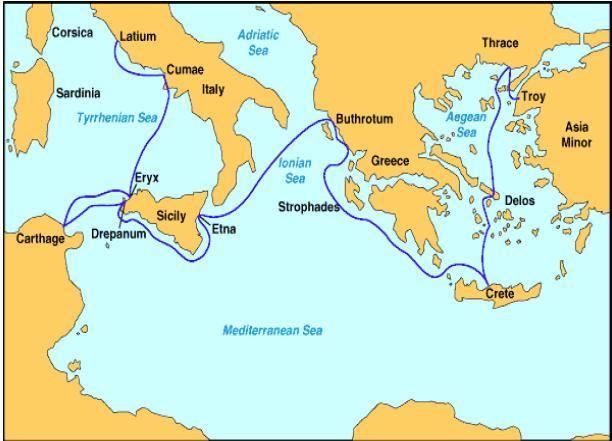 Aeneas'ın Troya Sonrası Yolculuğu