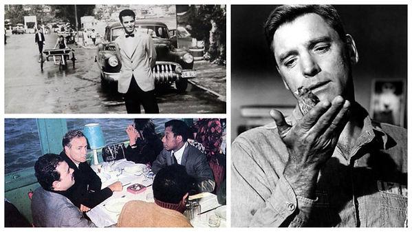 1960s Canlı Balık Restaurant Dimitrios, Marlon Brando, James Baldwin - Burt Lancaster
