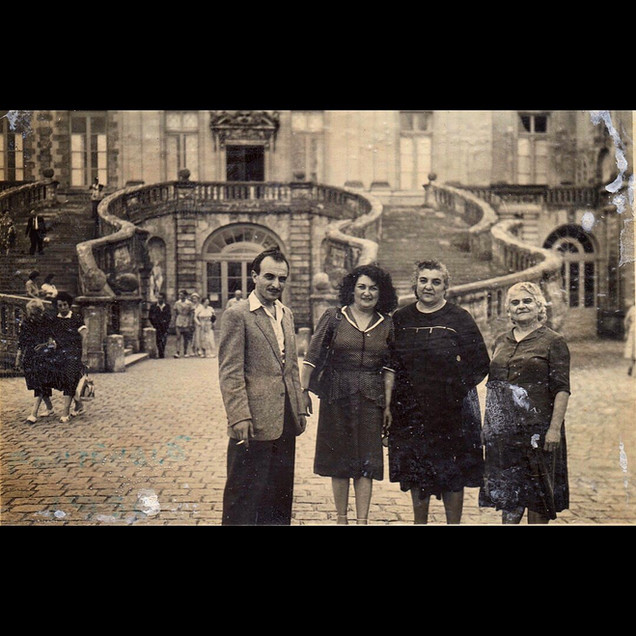 1950s Road trip to Europe - Fontainebleau