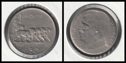 50 Centesimi - 1921