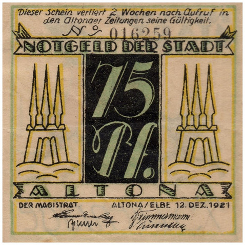 Altona, 50 Pfennig, 1921_Back