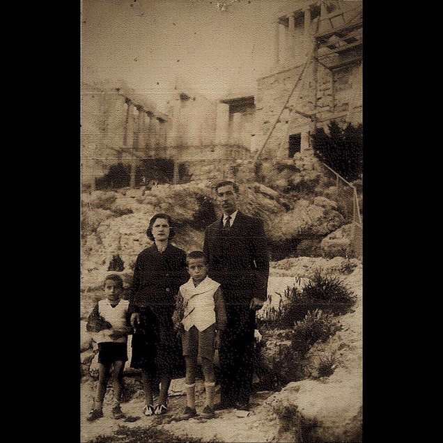 1930s Vafiadis Family in Acropolis