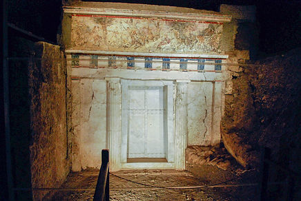 facade_of_philip_ii_tomb_vergina_greece.
