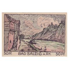Bad Salzig, 50 Pfennig, 1921_Back
