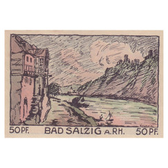 Bad Salzig, 50 Pfennig, 1921_Back