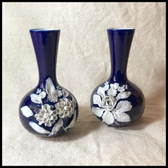 1940s Vases with Flower design of Ashen