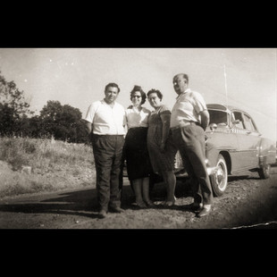 1960s The Cars We Drove / Vafiadis and Stamatyadis families with 1952 Chevrolet