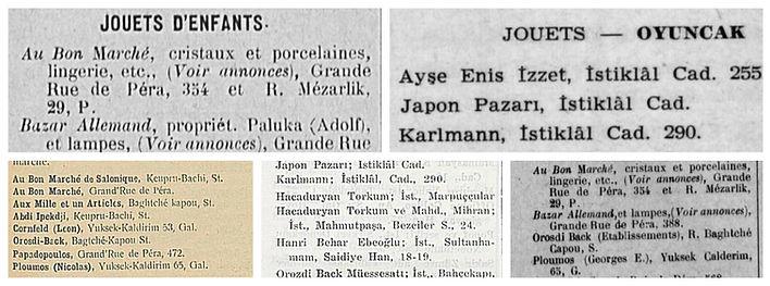 1912 1946 Şark Yıllıkları Oyuncakçılar