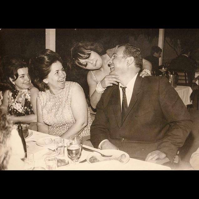 Nightlife & Belly Dancers / 1960s Aleko Vafiadis and Cusepina Sanzoni with Belly Dancer, Lido Restaurant, Ortaköy