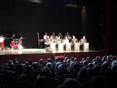 Con la Mad Sax Big Band en el auditorio de Moralzarzal