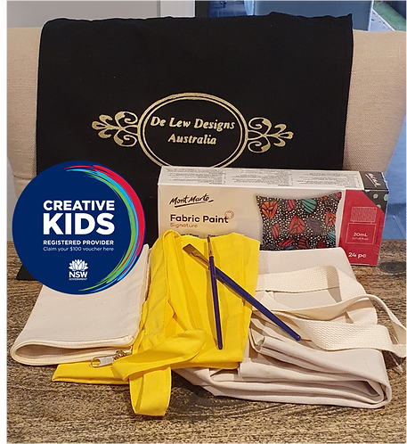 Fabric painting  DIY Mega Kit - gift pack