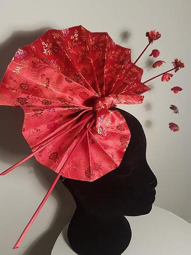 silk percher fascinator geisha inspired de lew
