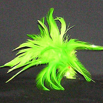 Saddle Hackle millinery feather spring racing carnival fascinator