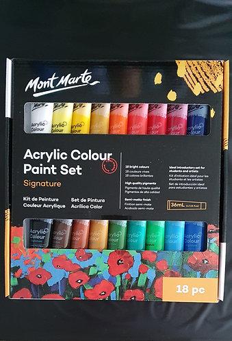 Mont Marte Studio Acrylic Paint Set 18 x 36ml