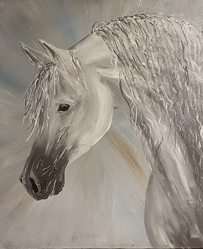 Arabian Stallion acrylic painting