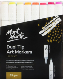MM Dual Tip Alcohol Ink Art Markers 24pc
