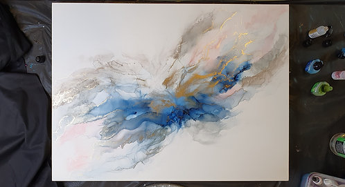 Alcohol ink on Yupo board- Artists Donna Lewis