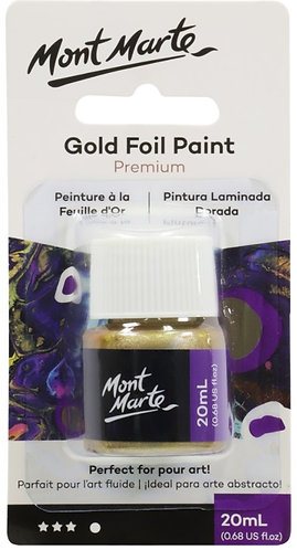 Foil Paint 20ml Bottle - Gold