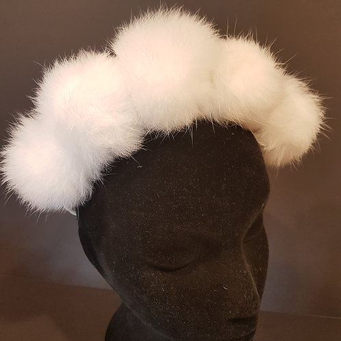marabou fascinator headband de lew