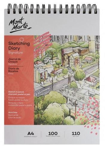 Signature Sketching Diary 110gsm A4 100 Sheet