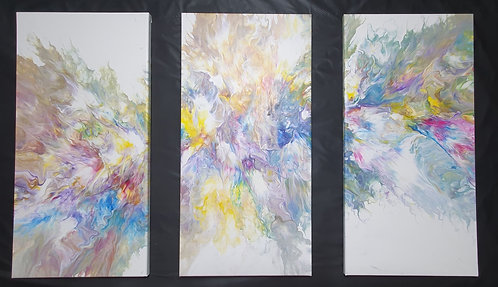 Triptych - colour explosion