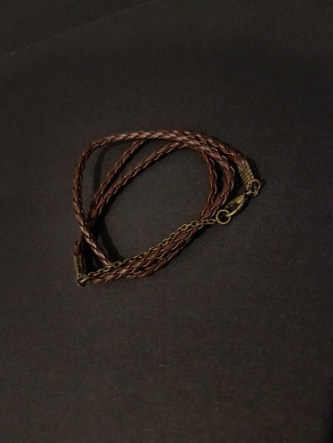 Boho Chic Plaited Leather Wrap Bracelet accessories womens fashion