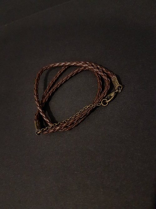 Boho Chic Plaited Leather Wrap Bracelet