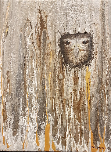 Acrylic painting Owl incognito