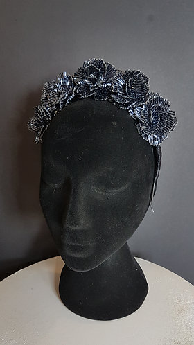 beaded floral headband spring racing fashion