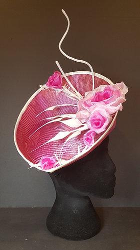 spring racing carnival parasisal straw fascinator silk flowers