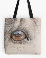 Arabian stallion eye, Tote bag