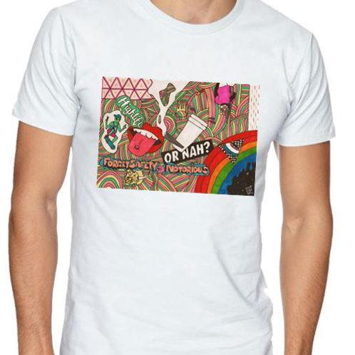 unique t shirt, colourful, eye catching, streetwear, urbanwear, street, urban