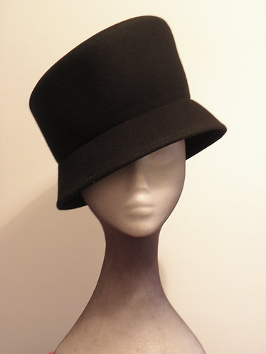 Machine Blocked 100% Wool Felt Hat Shape 2Blk