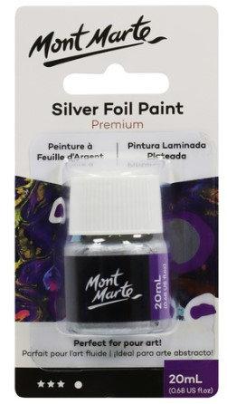 Foil Paint 20ml Bottle - Silver