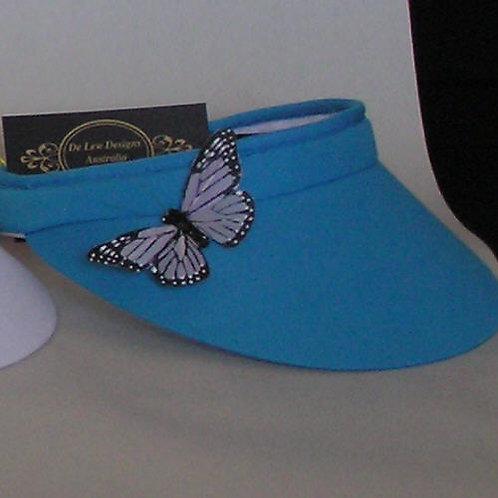 sun visor with butterfly detail de lew