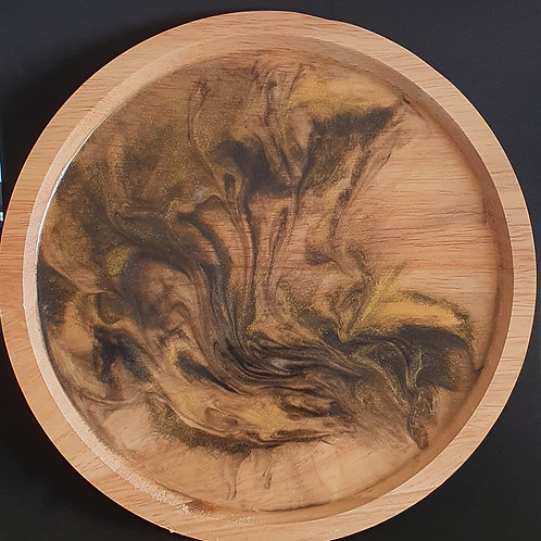 Resin wooden tray