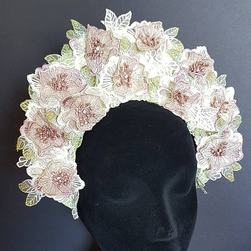 Floral crown spring racing carnival fascinator
