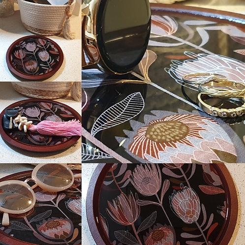 Resin wooden tray Jewellery / keys