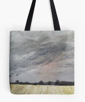 Stormy stubble Tote bag