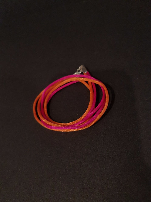 Boho Chic coloured cord wrap bracelet