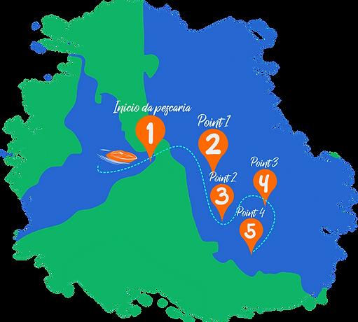 Mapa pescaria em Pipa, Passeios em Pipa